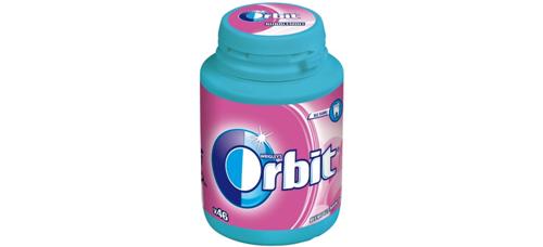 Ružové žuvanie Orbit Bubblemint v novej dóze a vždy po ruke