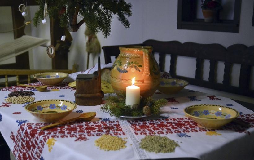 magický večer pri štedrovečernom stole