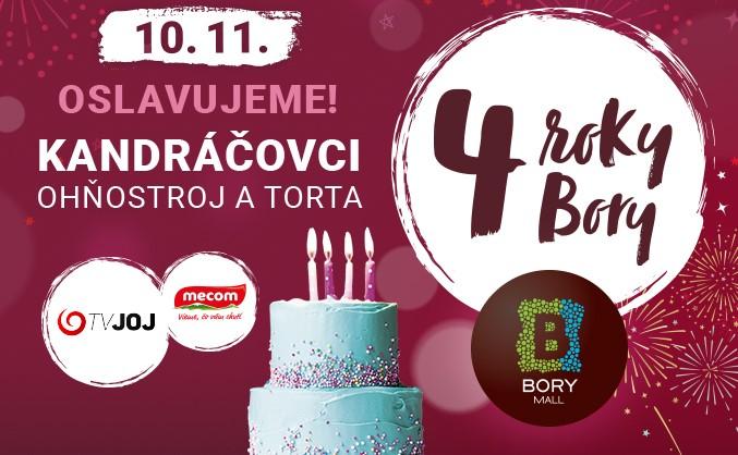 Oslávme to! 4 roky štýlu, zábavy a chutí v Bory Mall.